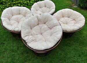 3 x Papasan chairs / Papasan chaises