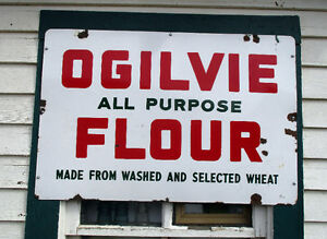 Ogilvie Flour Porcelain enamel sign Original dated 1946