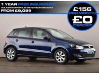 2014 63 VOLKSWAGEN POLO 1.4 MATCH EDITION 5D 83 BHP