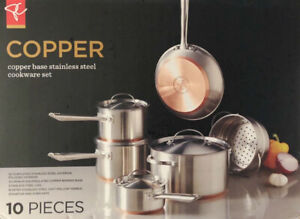 PC Copper base stainless steel cookware set (Presidents Choice)