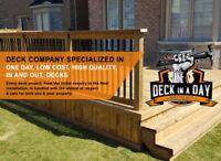 Deck builder. Decks Starting at $9 sq.ft