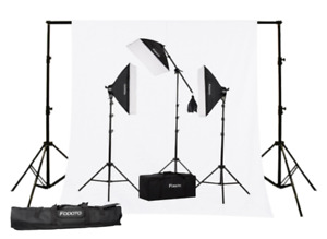 3-POINT PHOTO VIDEO SOFTBOX LIGHTING KIT