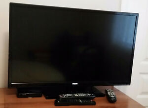 TV with shaw box