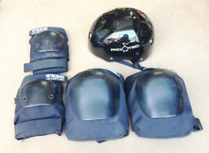 Skateboard Safety Gear -- Helmet and Pads