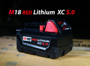 Milwaukee M18 XC 5.0 Extended Capacity RedLithium-Ion Battery