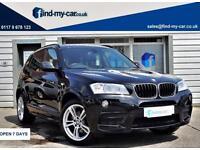 2013 63 BMW X3 3.0d xDrive30d M Sport Auto 258 BHP Black FULLY LOADED