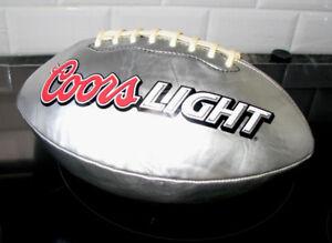 RARE Ballon Football Coors Light Silver Bullet Publicitaire
