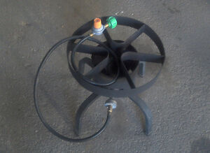 Heavy duty single propane burner