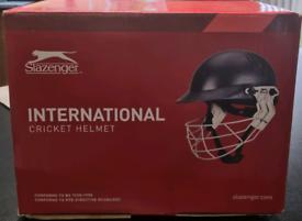 Unused Slazenger International Cricket Helmet