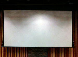 "New Draper 133"" 16:9 Motorized Front Projection Screen"