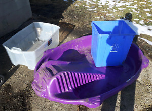 Kiddie Pool, Recycling Box, Rubbermaid bin