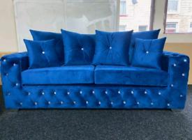 Royal Blue 3+2 Seater Ashton Sofas
