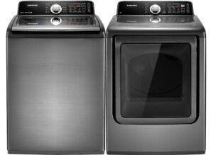 Samsung Top load washer and dryer set (Grey) OBO