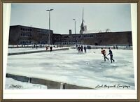 """""""STARKEY"""" PRINT """"MARGUERITE BOURGEOUS SCHOOL WITH ICE RINK"""""""