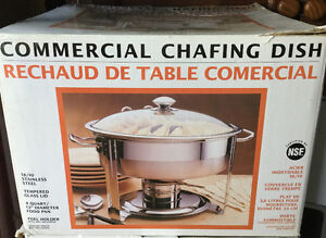 Seville Classics Commercial Chafing Dish 4 Quart 18/10 S/S