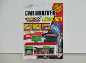 Car and Driver Shock Racers LAUNCHER '00 Corvette 1:64 Diecast