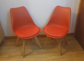 2x Charles Jacob Retro Chairs