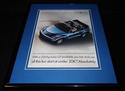 2004 Chrysler PT Cruiser Framed 11x14 ORIGINAL Vintage Advertisement
