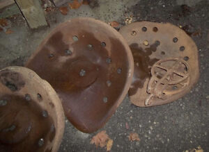 #greenspotantiques tractor seats, pulleys, old boxes, bucksaw bl