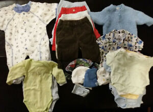 0-3 Month Baby Boy Lot - 30 Pieces