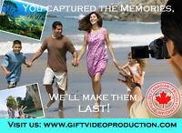 Photo slideshows, montages and edited home videos