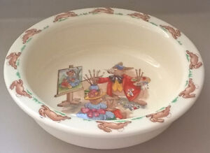 Vintage BUNNYKINS ROYAL DOULTONPorridge Bowl,