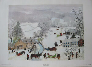 Plaque Grandma Moses, A Frosty Day