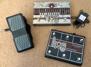 EHX HOG + foot controller + expression pedal + power supply