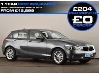 2014 64 BMW 1 SERIES 1.6 116D EFFICIENTDYNAMICS 5D 114 BHP DIESEL