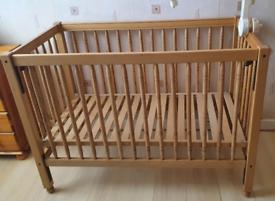 Baby Cot Bed 120 cm X 60 cm