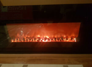 "58"" Wall mount electric fireplace"