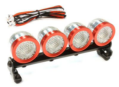 INTEGY RC Car C25614RED Roof Top Spot Light (4)LED White for 1/10 1/8 1/5 Scale ()