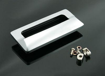 Sliding Door Handle Satin Chrome Rectangular Flush Pull Drawer Pulls - FP006