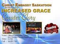 INCREASED GRACE AND GREATER GLORY
