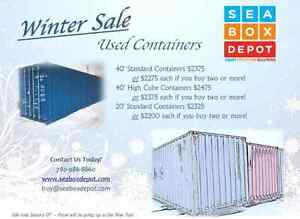 Winter Sale on Used Containers