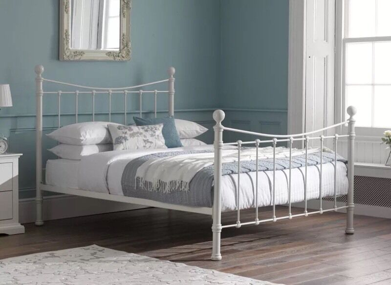 Dreams Harper white king size bed