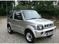 2004 SUZUKI JIMNY 1.3 O2 CONVERTIBLE 3DR 4 x 4 ESTATE WARRANTIED LOW MILEAGE