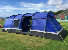 10 man 4 bedroom Kalahari tent + porch + carpet + footprint