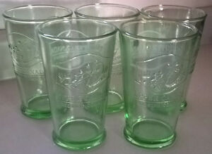 Vintage Upper Canada Brewing Company- Green Beer Glasses