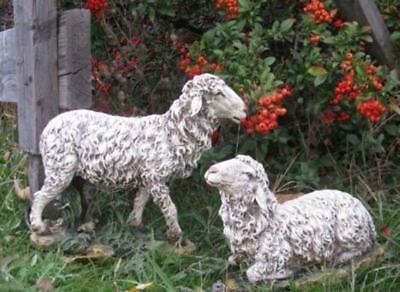 Sheep Nativity Set 2pc Indoor Outdoor  Statues Best Nativity Yet 10 inch (Nativity Outdoor Sets)