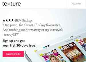 3 Month Subscription to Texture (Monopoly)