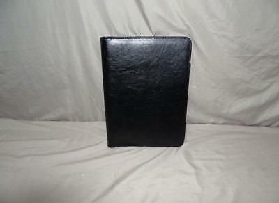 3 Ring Leather Binder And Pad Holder - Bonded Leather Black 14 Long X 10 Wide