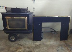 Reverso Wood Burning Fireplace and Insert