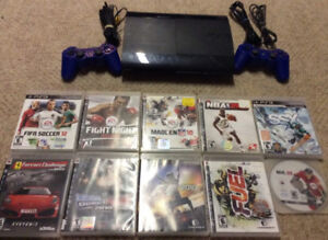 Playstation 3 with 2 Controllers and 10 Child Friendly Games!