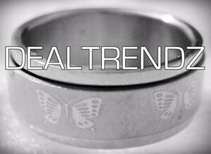 ⭆ BUTTERFLY SPIN 316L STAINLESS STEEL UNISEX RING NEW US 6.25 ✋