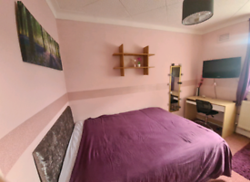 Single room with double bed to rent in flat with 2 tenants ONLY