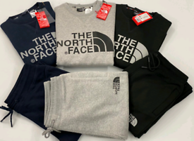 The North face Tracksuit In Black Navy & Grey Color and all sizez