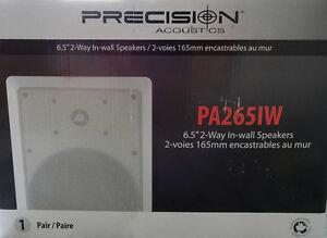 Precision Acoustics In-Wall Speakers(PA265IW) - Two Speakers-NEW