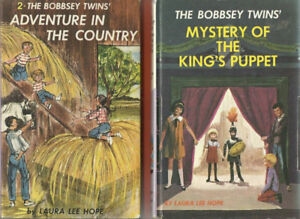 2 Bobbsey Twins Picture Hardcover Books 1960'sAdventure In The