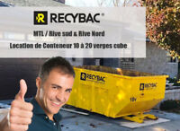 Location conteneur longueuil /longueuil container rental RECYBAC